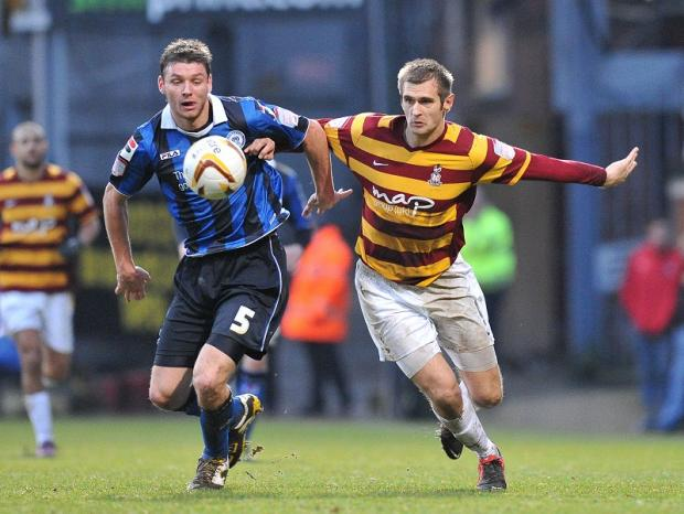 City could be in the market for a new striker as competition for James Hanson, pictured, and Nahki Wells