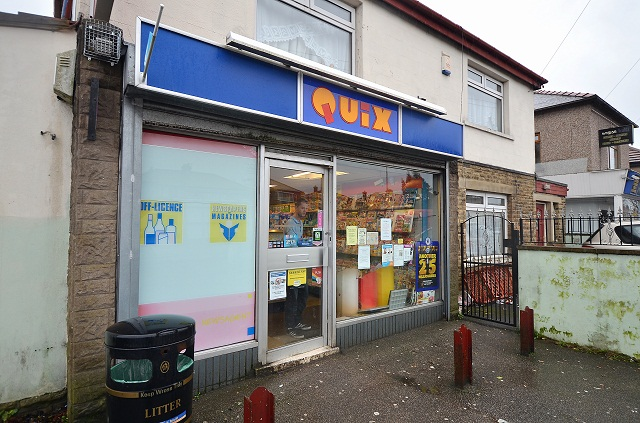 The shop in Wrose which was raided by a knife-wielding youth