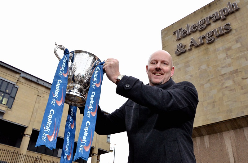 We're up for the cup! Simon Parker with the Capital One Cup