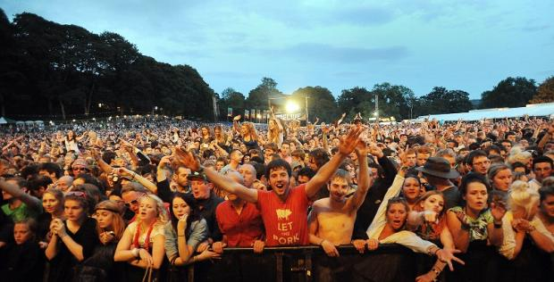 Crowds at last year's Bingley Music Live