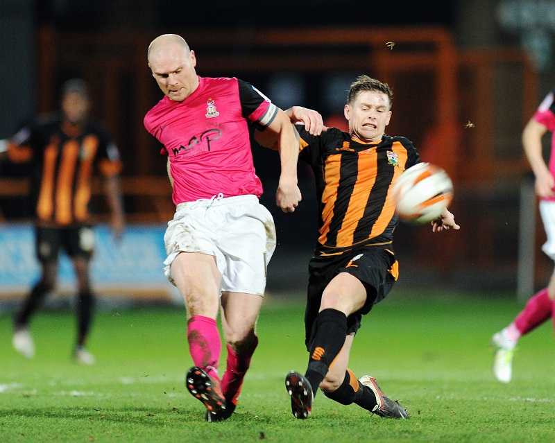 City skipper Gary Jones in action during Saturday's defeat at Barnet