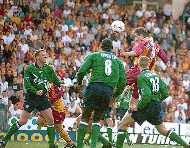 David Wetherall scoring his famous winner against Liverpool