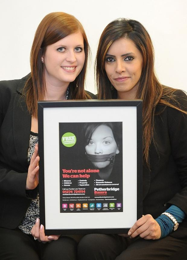 Lisa Collett and Nazia Shaukat with a poster for the new forum