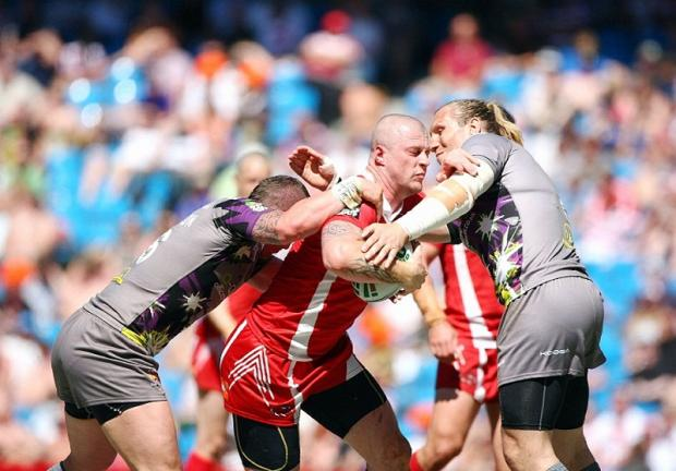 Adam Sidlow in action for Salford against Huddersfield last season