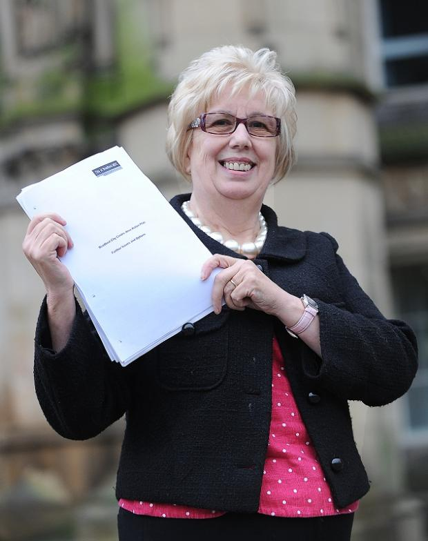 Councillor Val Slater with the city centre action plan