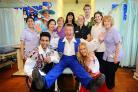 The panto cast with BRI staff
