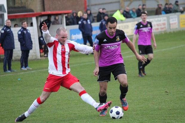 Matty James returned to Avenue's midfield at Brackley Town but was forced off with an injury. Picture: John Rhodes
