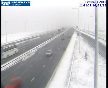 Traffic camera on the M62