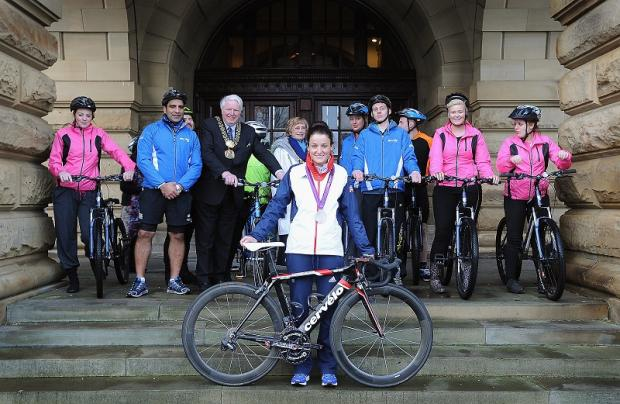 Olympic silver medallist Lizzie Armitstead at Cartwright Hall