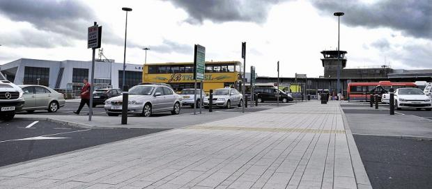 The airport drop-off point, where fees for larger minibuses will rise from £2 to £6.