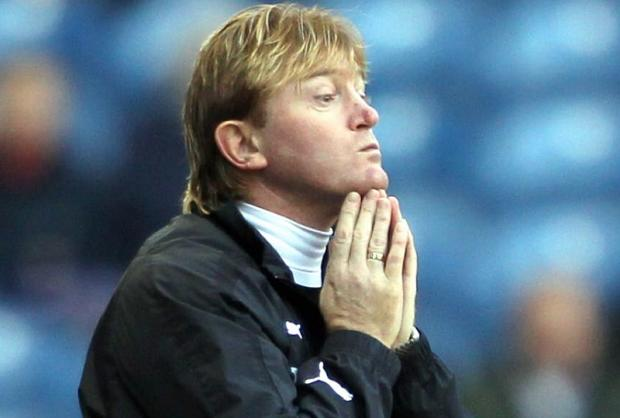 Bradford Telegraph and Argus: PRAYING FOR A BRADFORD WIN: Former Bantams boss Stuart McCall is hoping City's attack can once again  exploit Villa's biggest weakness: their defence
