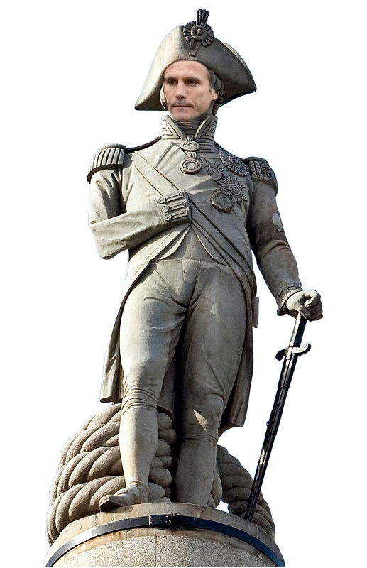 City's commander at the helm Phil Parkinson, mocked up as Admiral Horatio Nelson ahead of tomorrow night's Battle of Villa Park