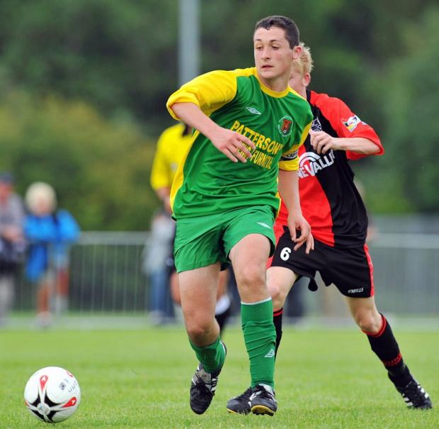 Carl McHugh in action for the Donegal underage football team, shortly before he took up a scholarship with Reading at the age of 16
