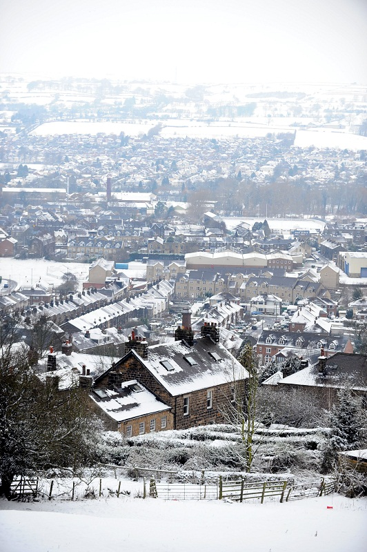 Bradford Telegraph and Argus: Snowy rooftops