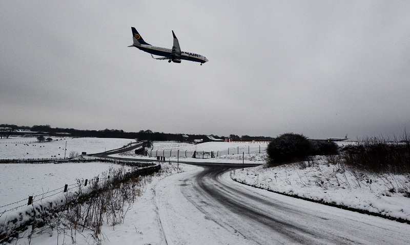 Bradford Telegraph and Argus: Snow at the airport