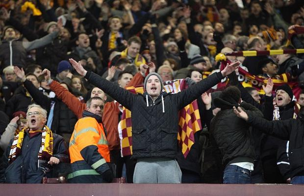 Bradford Telegraph and Argus: City fans can hardly believe it as their team upset the odds to reach Wembley