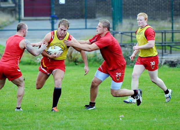 Alex Ball takes part in pre-season training with the Bulls ahead of the 2012 campaign
