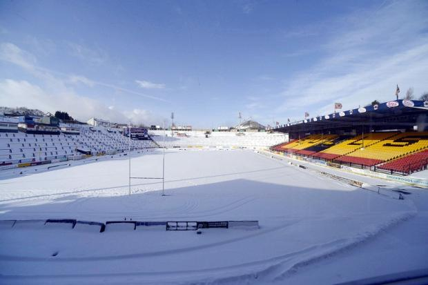 Odsal was due to host a Bulls legends match yesterday but the weather had the final say