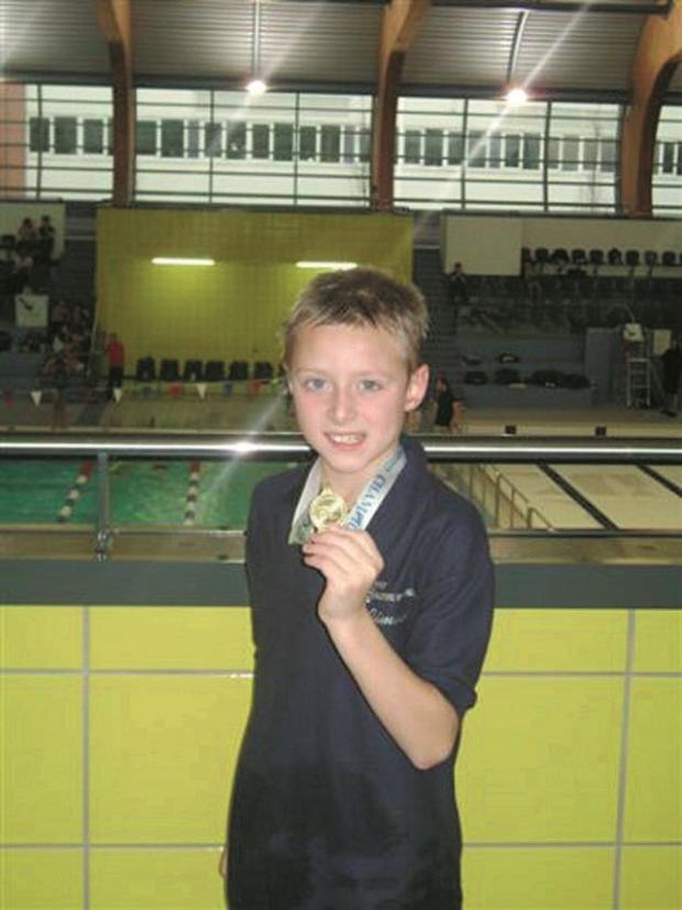 City of Bradford's James Lund picked up two medals at the Rotherham Metro A/B Long Course Meet