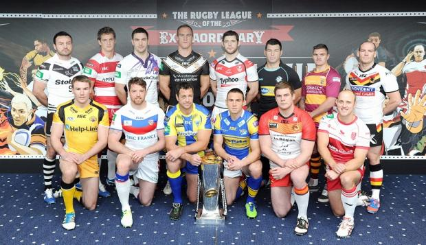 Bulls joint-captain Heath L'Estrange joined his counterparts from the other 13 clubs for the launch of Super League XVIII at the Etihad Stadium in Manchester