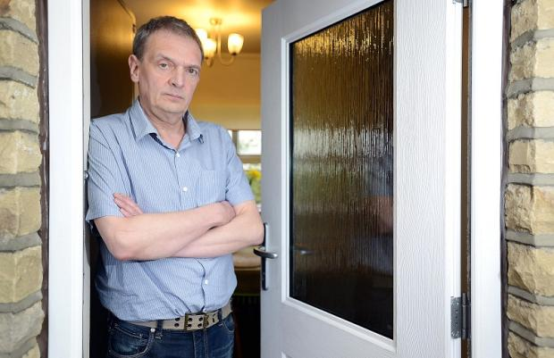 Bradford Telegraph and Argus: Philip Hey at his home in Wagon Lane where he was attacked
