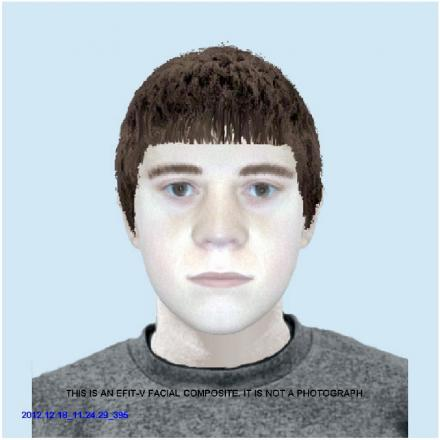 The efit picture of the man suspected of stabbing Philip Hey in the neck