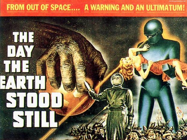 A poster from the 1951 sci-fi film The Day The Earth Stood Still