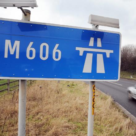 The crash is causing delays on the M606