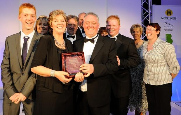 Bradford Telegraph and Argus: Summers Butchers staff with their award at last year's event