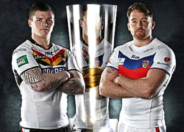 TROPHY HUNTERS: Bulls' John Bateman and Wakefield's Danny Kirmond face off before tomorrow's game