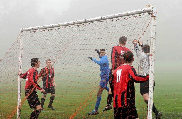 Stanningley Albion, in red and black, have a plum West Riding County Sunday Cup tie against West Bowling