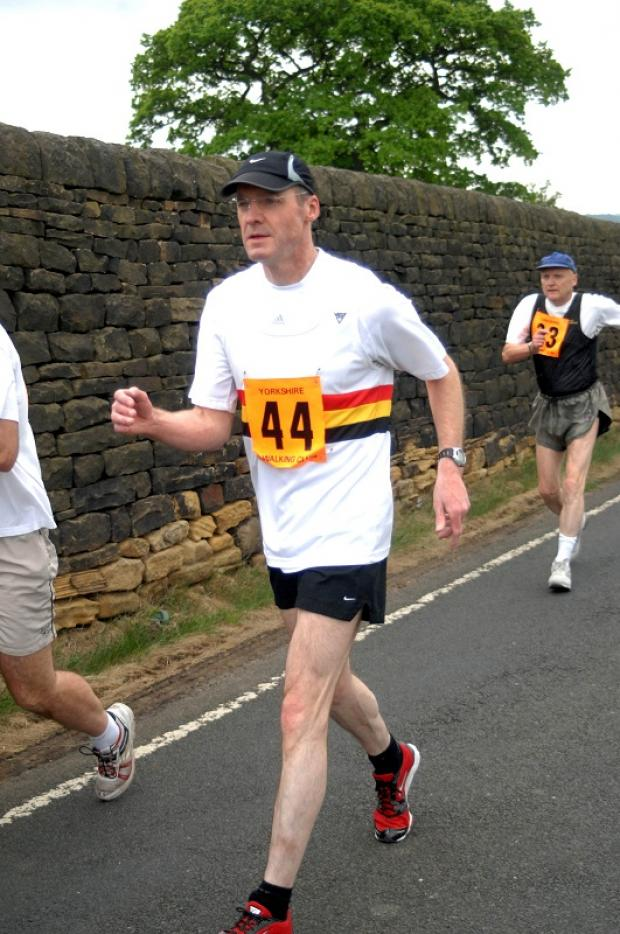 Alistair Shand is ranked fifth in the over-50s at 20 kilometres