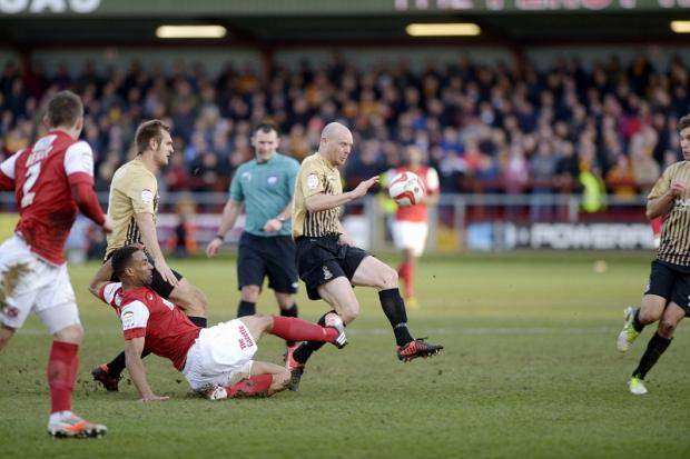 City captain Gary Jones in action at Fleetwood