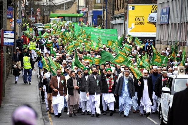 The Muslim Association of Keighley organised a parade to mark the birthday of the Prophet Mohammed