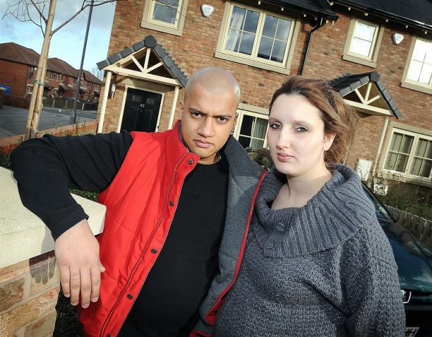Sonny and Raquel Tanday outside their home in Pavilion Gardens, West Bowling