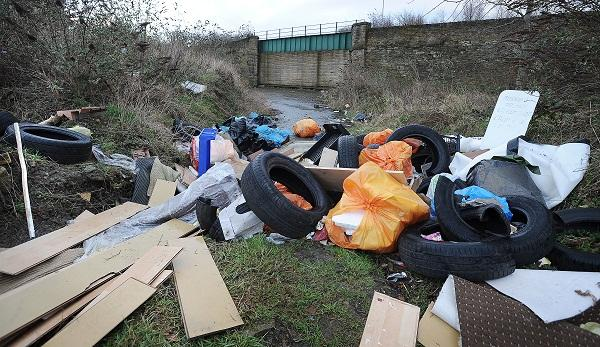 Fly-tipped rubbish in Bradford