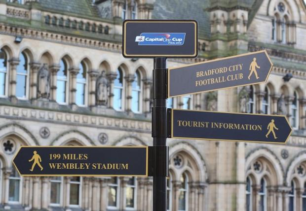 The new Wembley signposts in Centenary Square