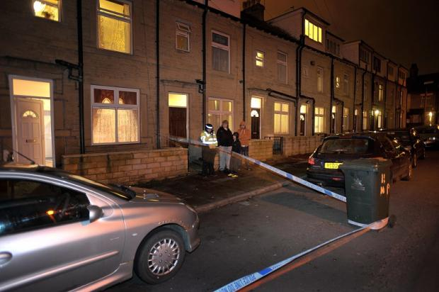 Police at the scene in Newport Place, Manningham, in January last year