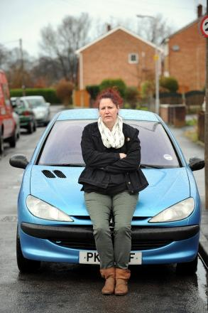 Debbie Pickford and the car that was impounded