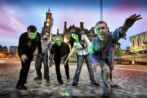 Zombies in Bradford's City Park last year as part of the National Media Museum's Fantastic Films Weekend