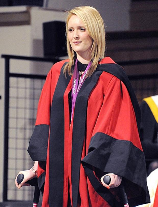 Danielle Brown receiving her honorary degree
