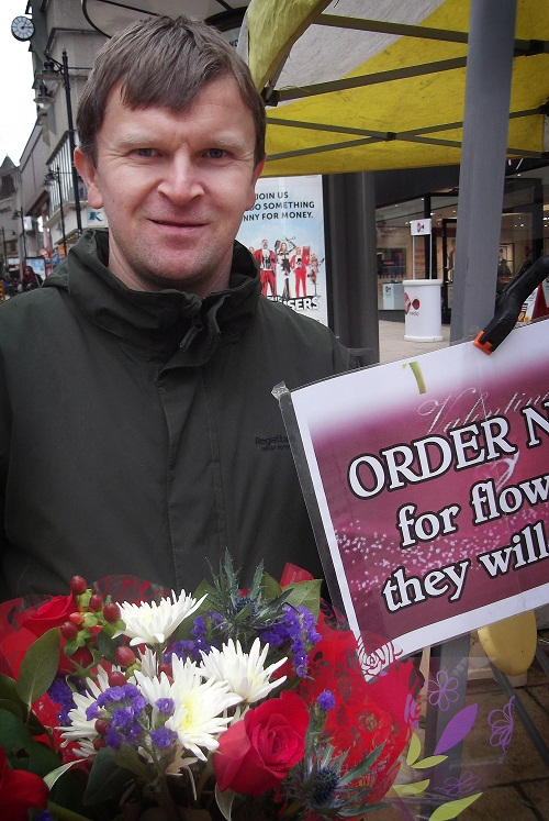 Chris Thompson, owner of Thompson's Florists in Darley Street, Bradford