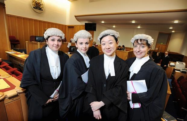 Law students (from left) Asma Rehman, Kristina Goodwin, Dianne Lai and Jane Gordois