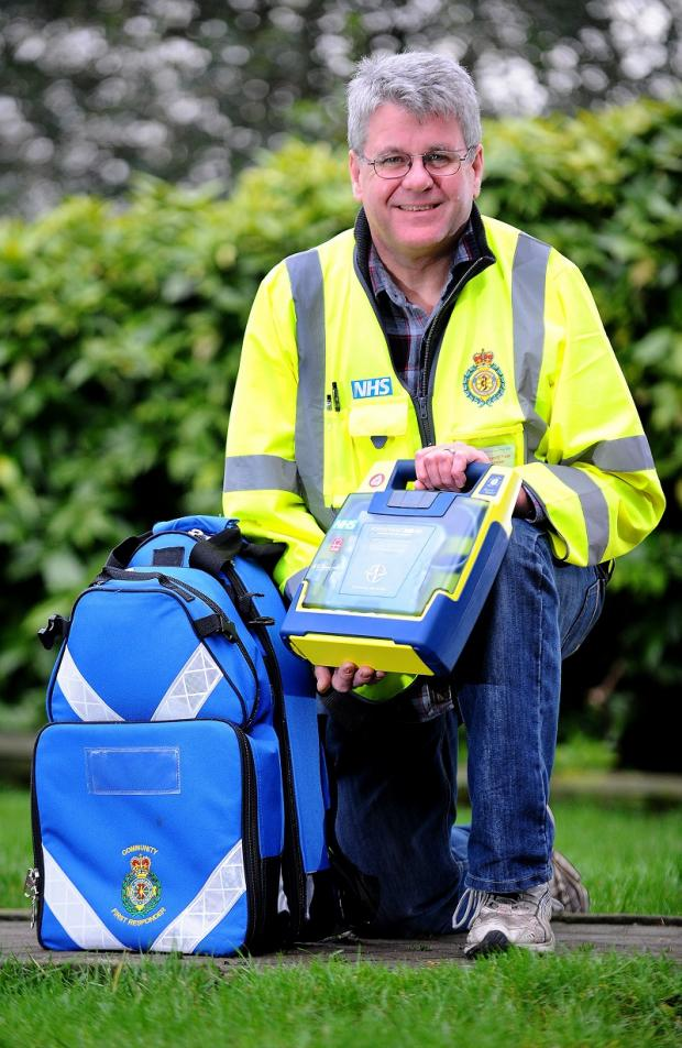 Baildon Community First Responder Rob Higgie