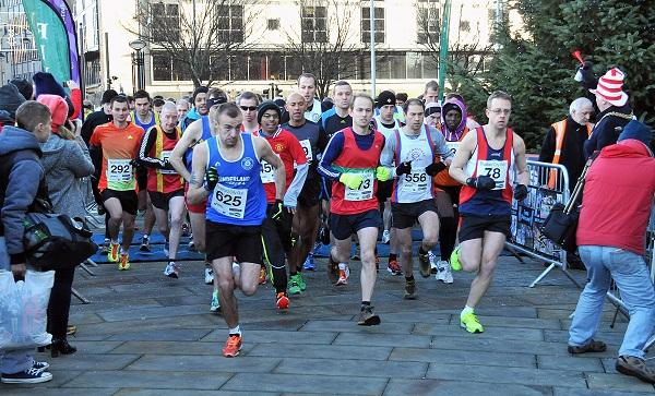 Runners take part in the City Run