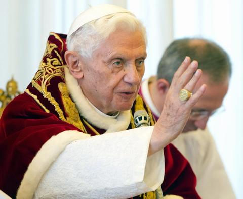 Pope Benedict who has announced his resignation