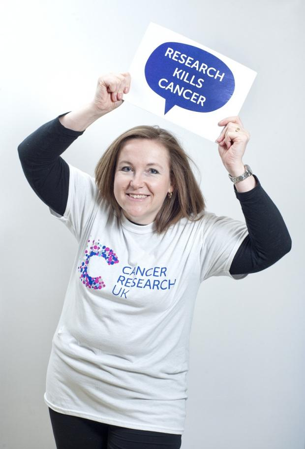Nicki Wardle is backing the Cancer Research UK campaign