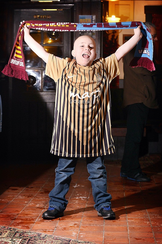 Brave Jake will be one of mascots leading Bradford City out at Wembley
