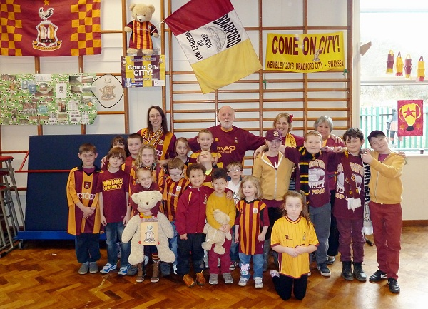 Glenaire Primary pupils enjoy a Bantams day