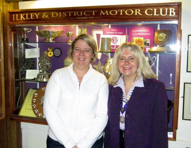 Sioned Kitching with outgoing president Karen Humphries